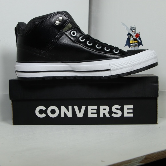 8b2ed7a7475e Converse Black Leather All Star Insulation Boots